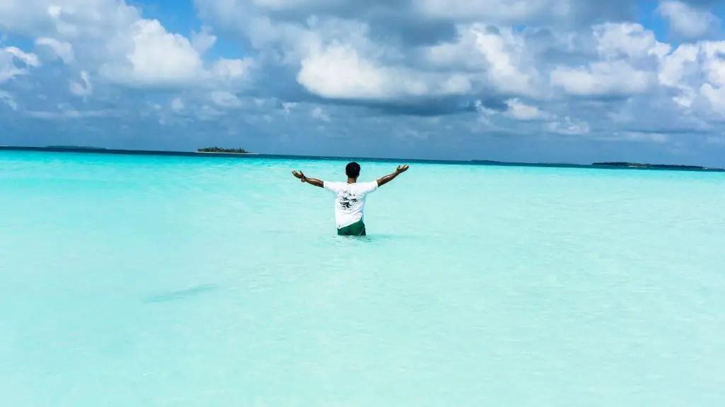 Maldives beach sandbank