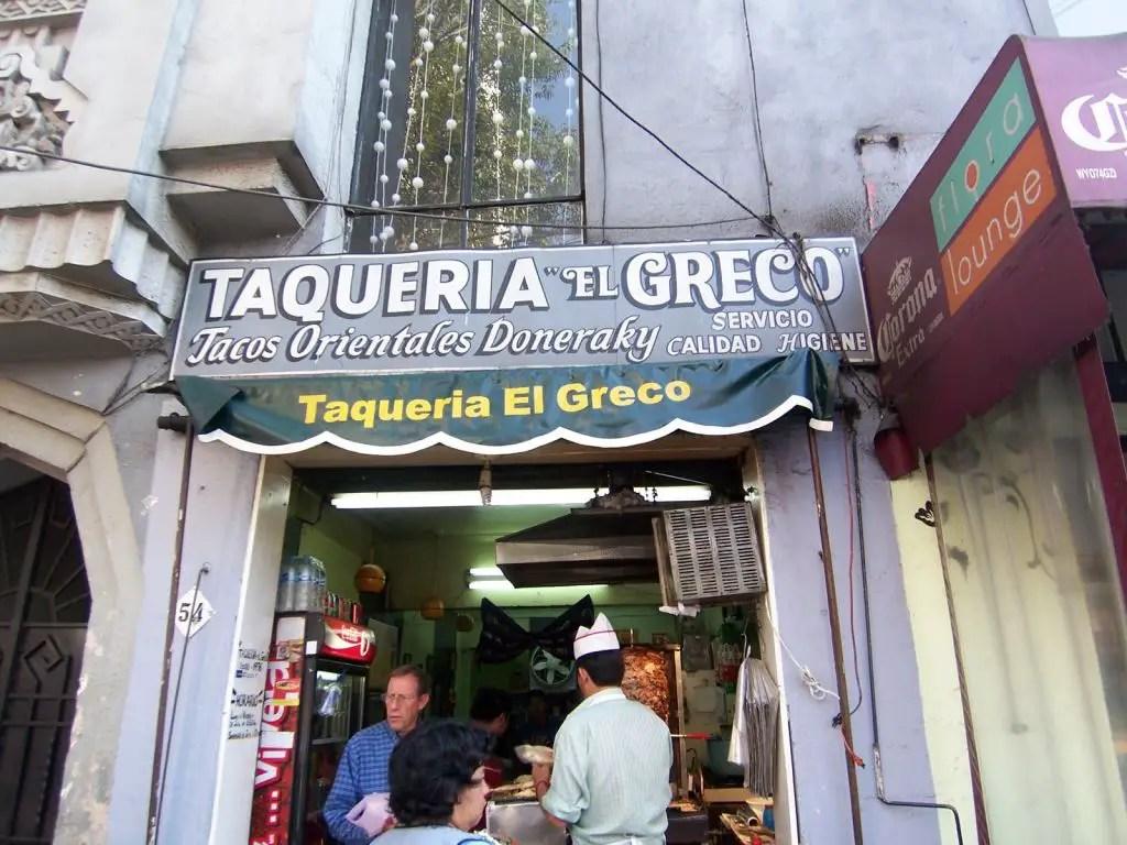 Tacos arabes taqueria el greco