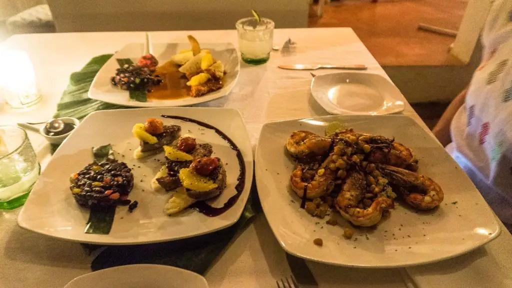 Amazing food at La Provedencia zipolite