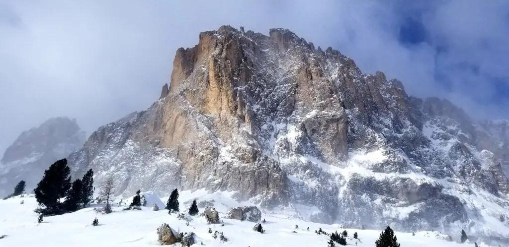 Stunning Langkofel Mountain to start off our Sella Ronda Circuit