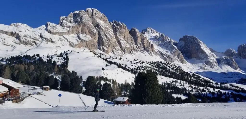 Dolomites superski Skiing Italy Col Raiser val gardena sunny side