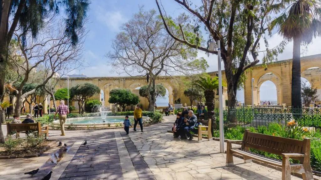 Barrakka Gardens of Valletta