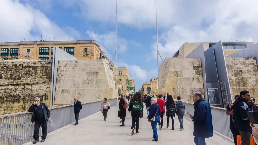 Entrance into Valletta City
