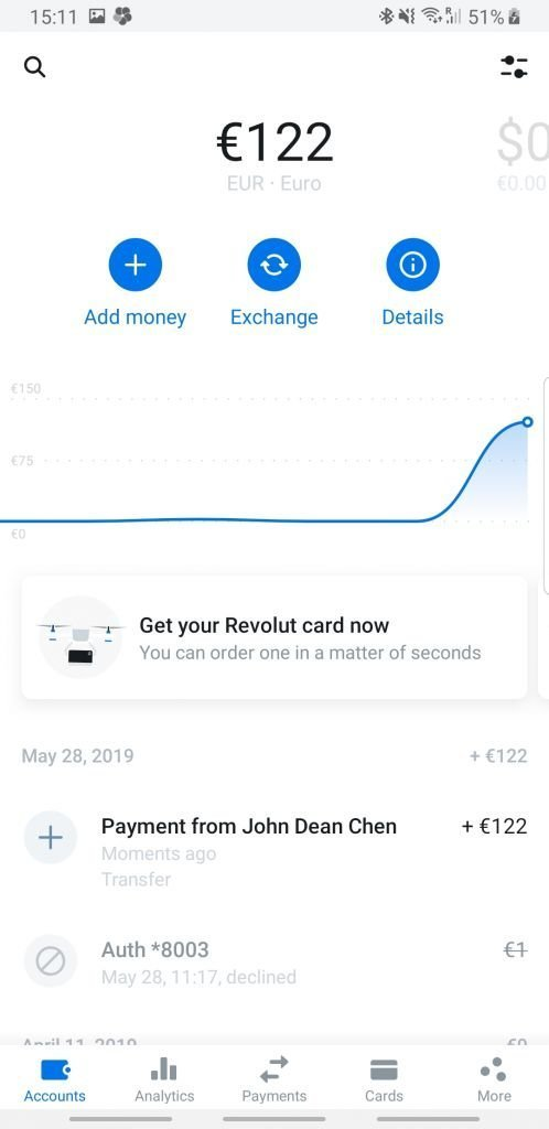 Revolut money transfer example no fx fee