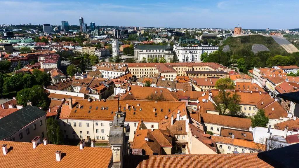 rooftop aerial views Vilnius Lithuania