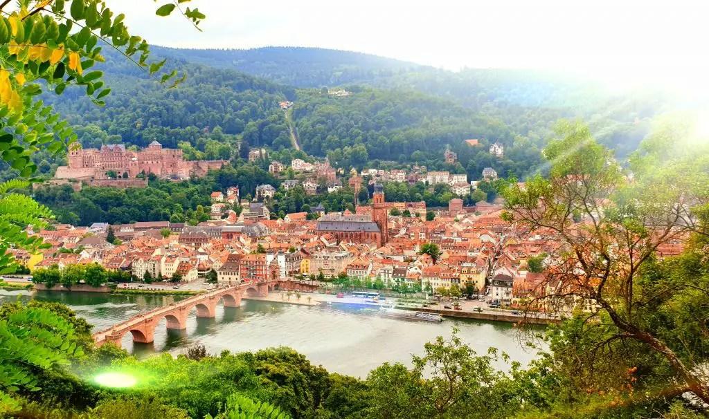 Heidelberg Philosopher's walk views