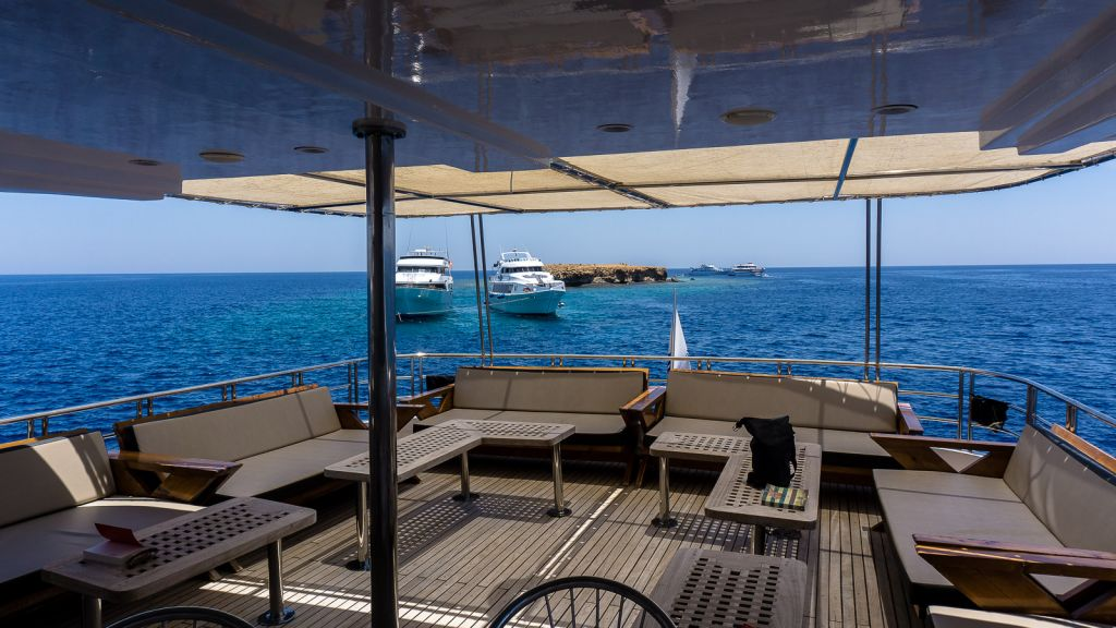 Top deck of the Samira Liveaboard