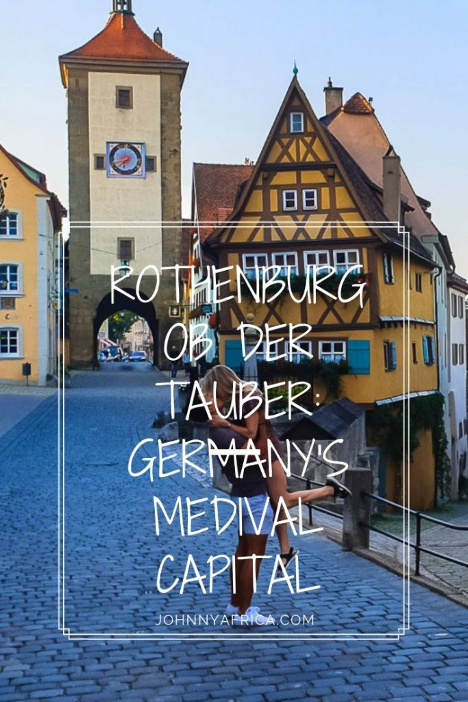 Rothenburg ob der Tauber is Germany\'s most picturesque and medieval town. It\'s fairy tale streets and Disney movie charm makes it a wonderful destination for any visitors to Germany looking for the traditional experience. #germany #rothenburg #bavaria #romanticroad