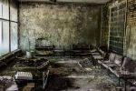 Ruins of the hospital in Pripyat Chernobyl