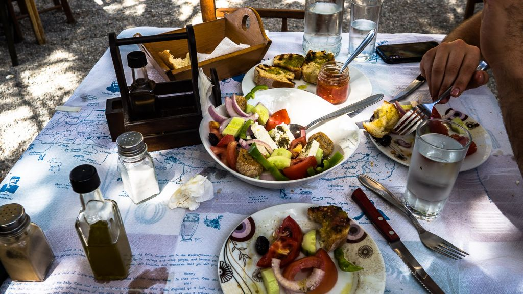 Greek salads for every meal yes please.
