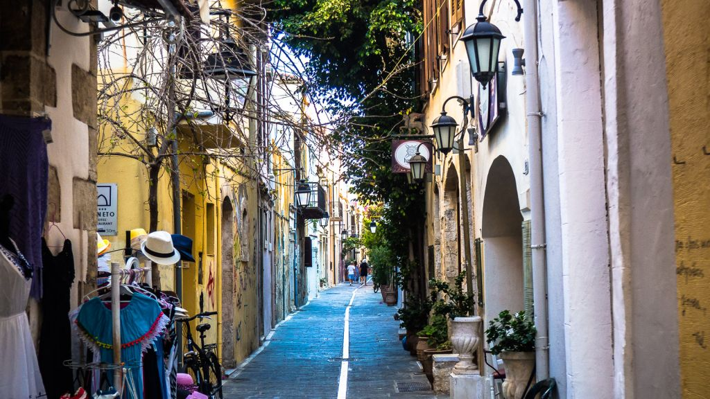 Rethimno town in Crete Greece