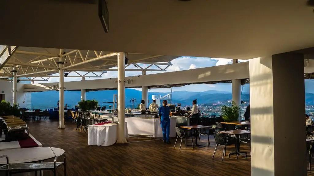 Views of Kigali! Ubumwe rooftop hotel