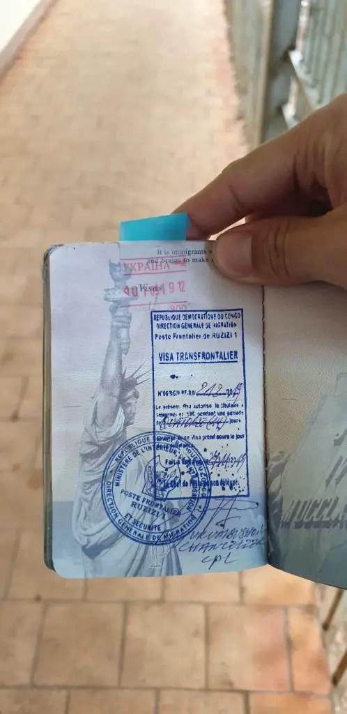 DRC passport stamp congo