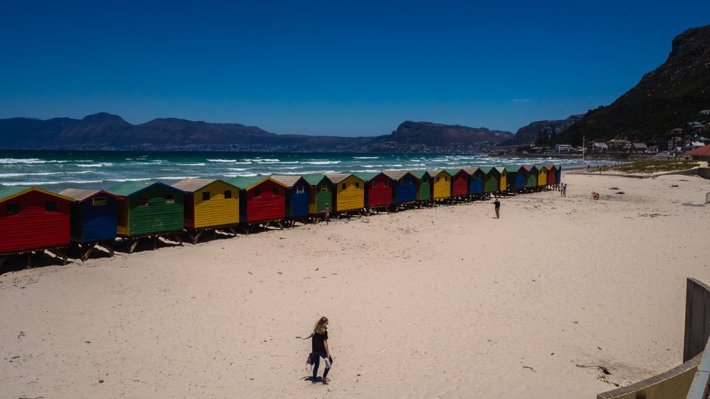 Muizenberg beach. Beautiful cape town