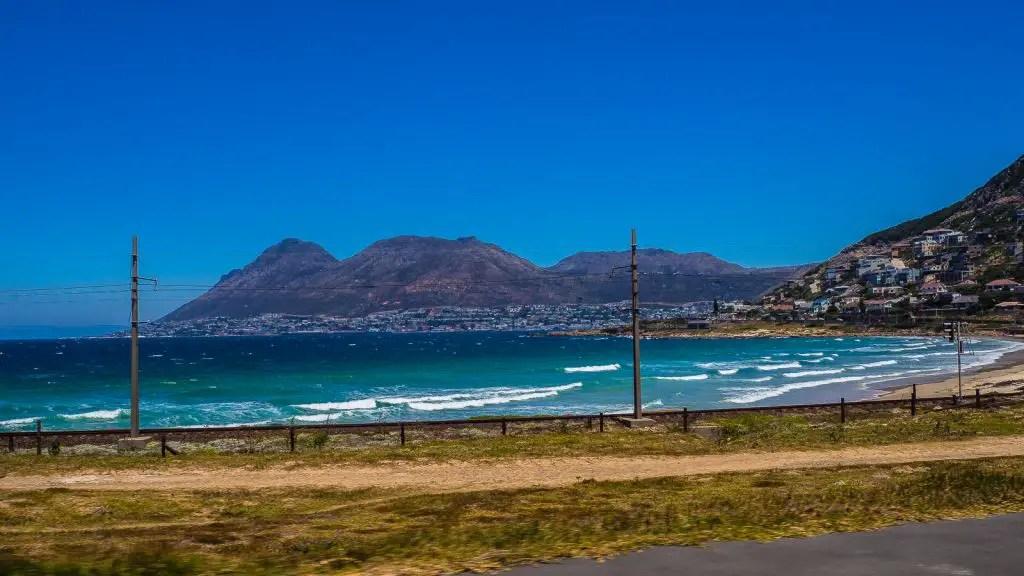 Beautiful drive along the coast to Muizenberg beach