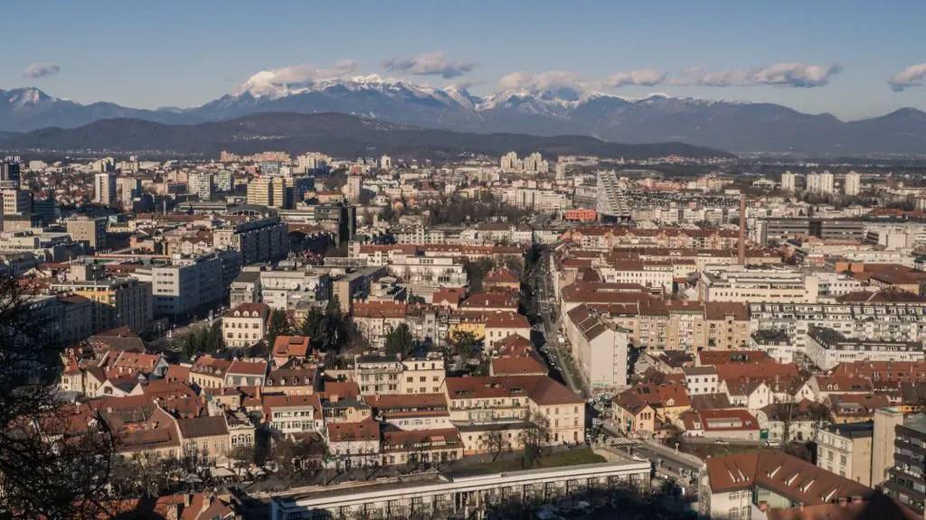 Ljubljana from the top of the Ljubljana castle