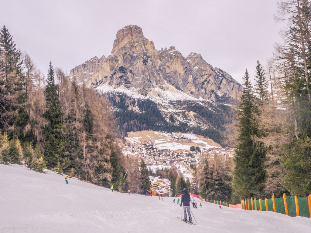 Corvara Sassongher Mountain