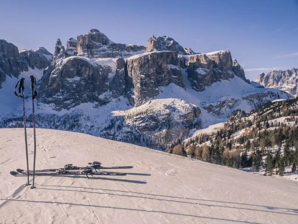 Alta Badia dolomites ski mountain