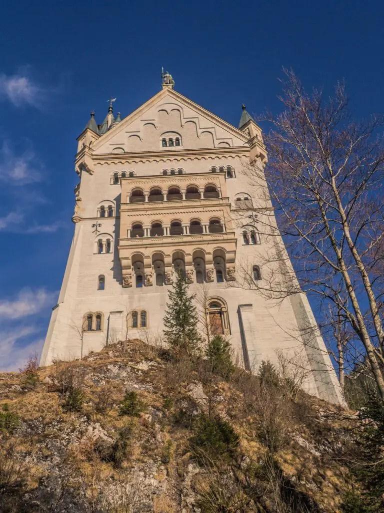 Neuschwanstein Castle side profile