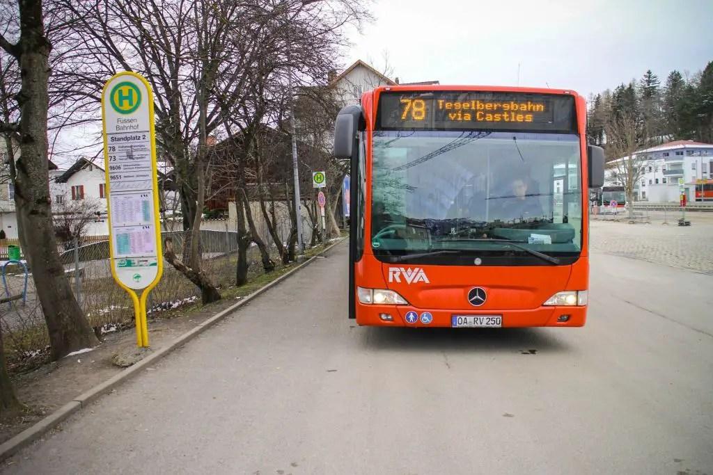 neuschwanstein castle from fussen bus