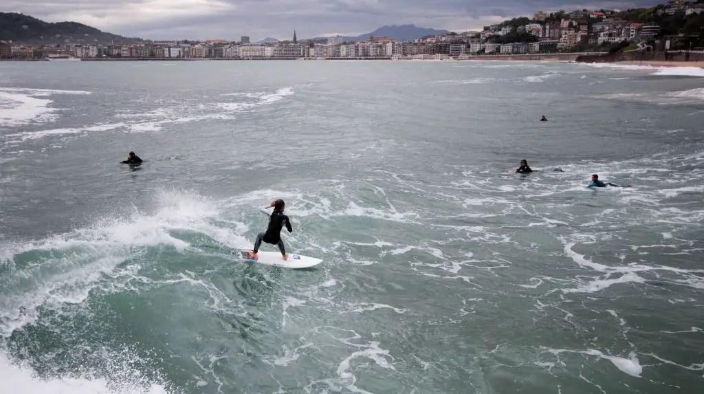 San Sebastian surfing
