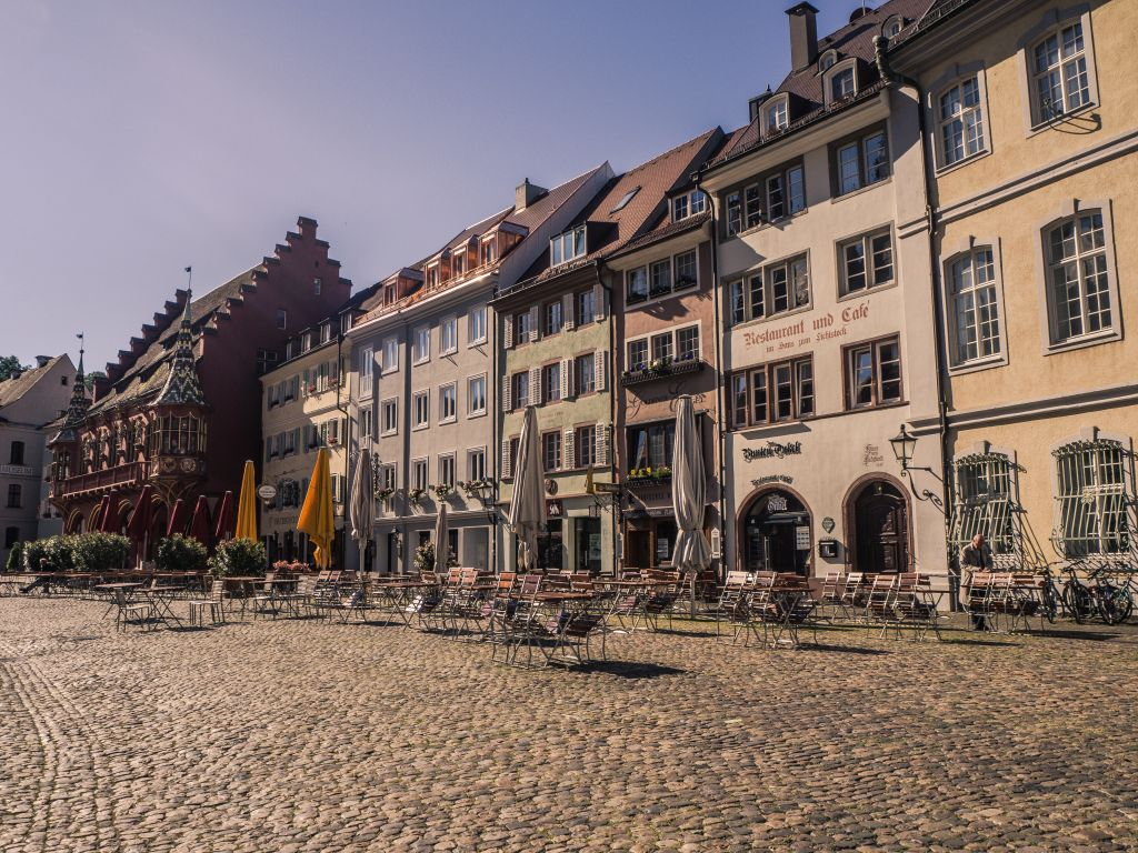 Freiburg im Breisgau old city square germany