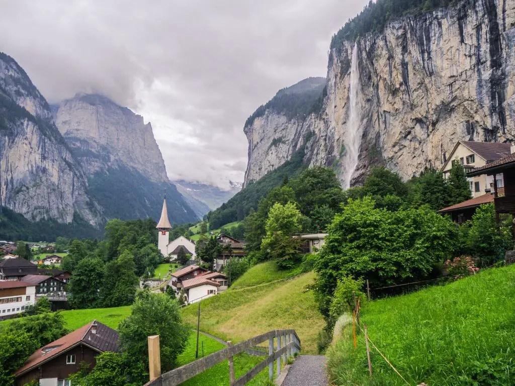 The viewpoint of lauterbrunnen