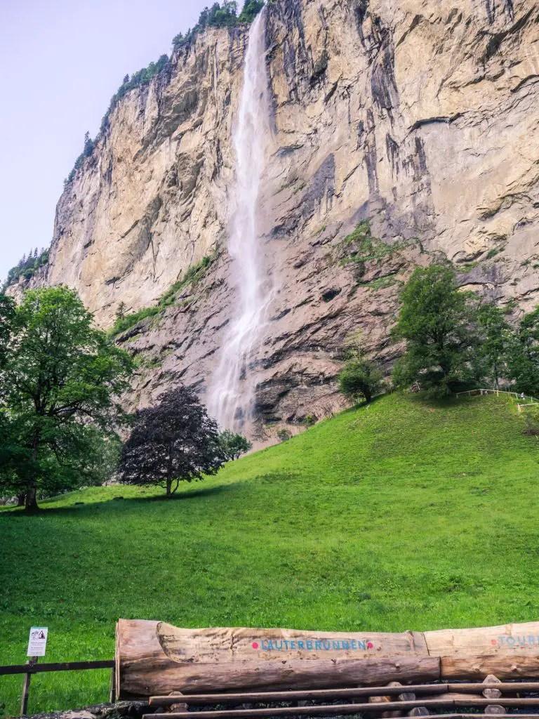 Staubbach waterfall in lauterbrunnen