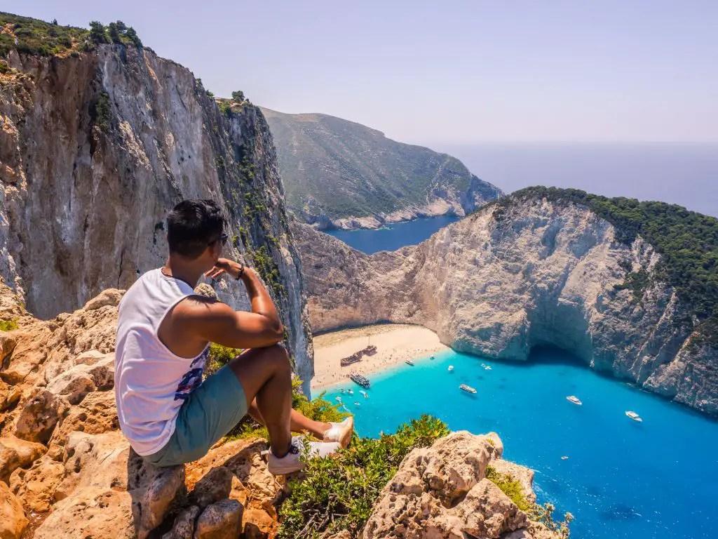 shipwreck beach Zakynthos view