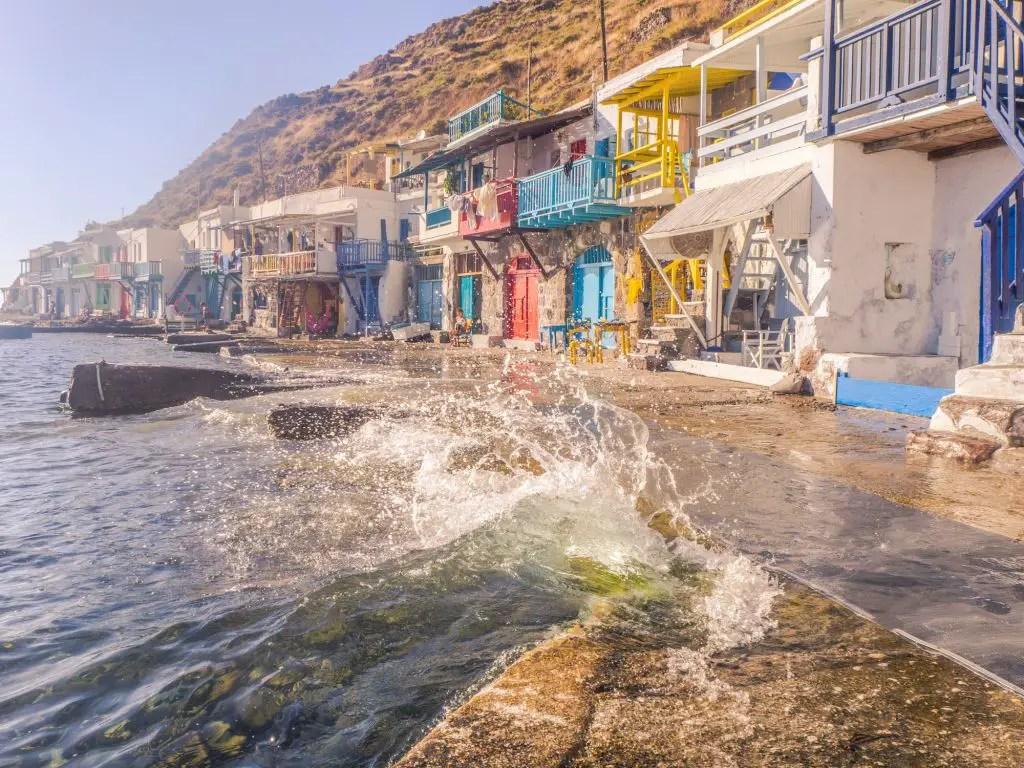 Milos fishing village