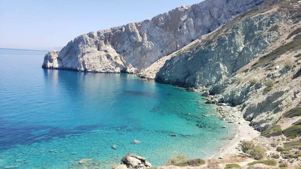 Vorina beach folegandros greece