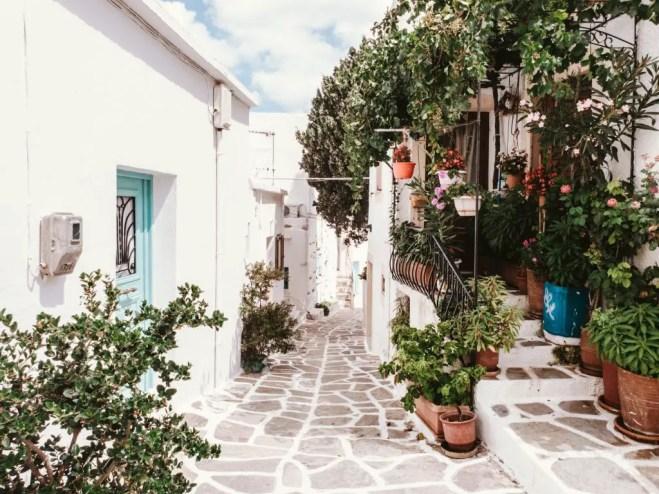 Lefkes town paros greece