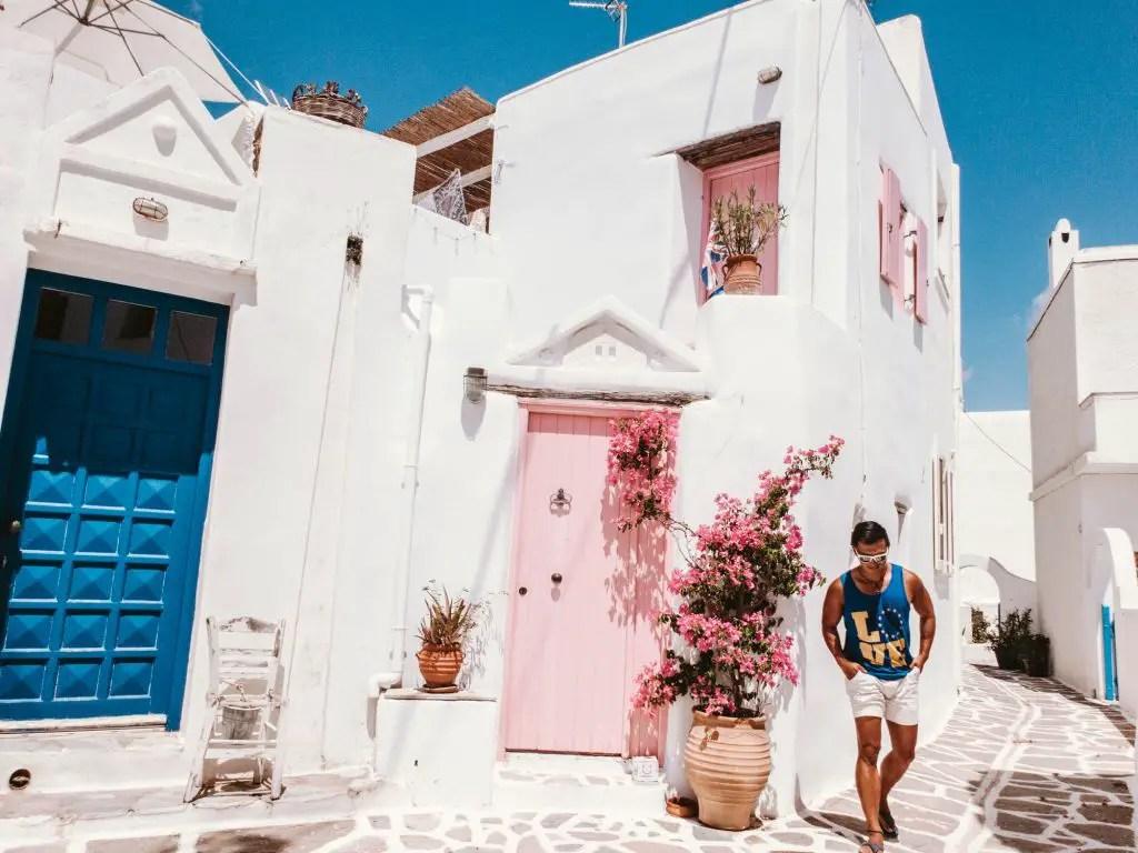 Paros pink house marpissa