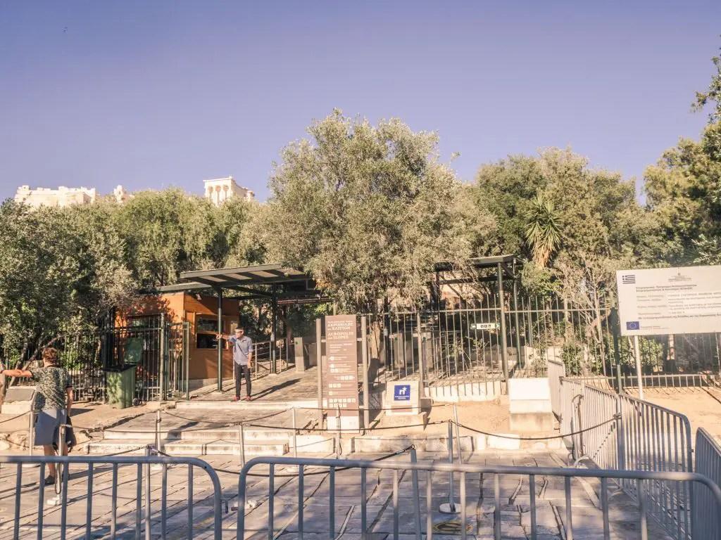 Entrance acropolis