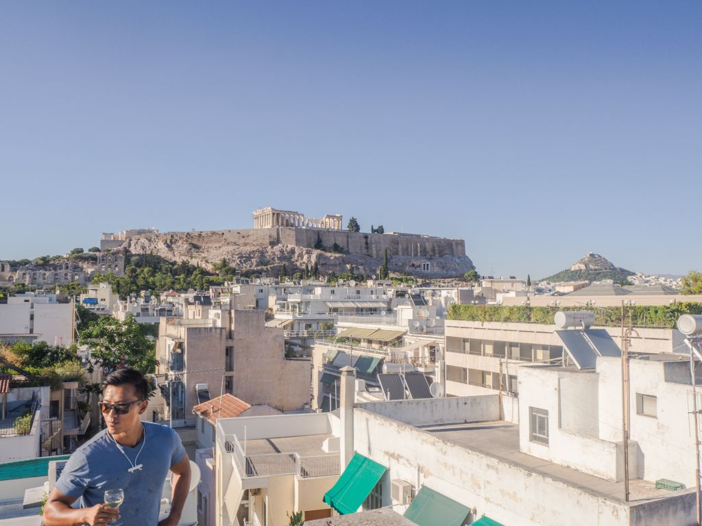 Rooftop views athens airbnb