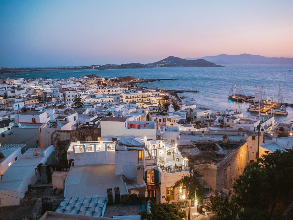 Naxos Chora at night