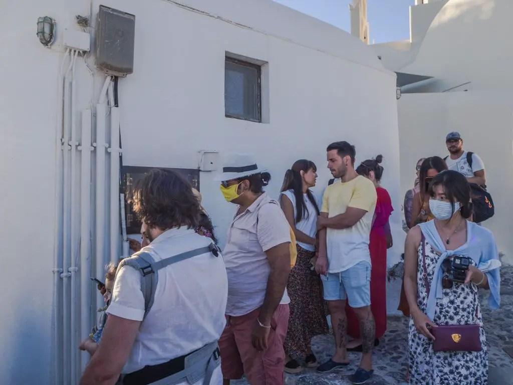 Santorini waiting to take photos
