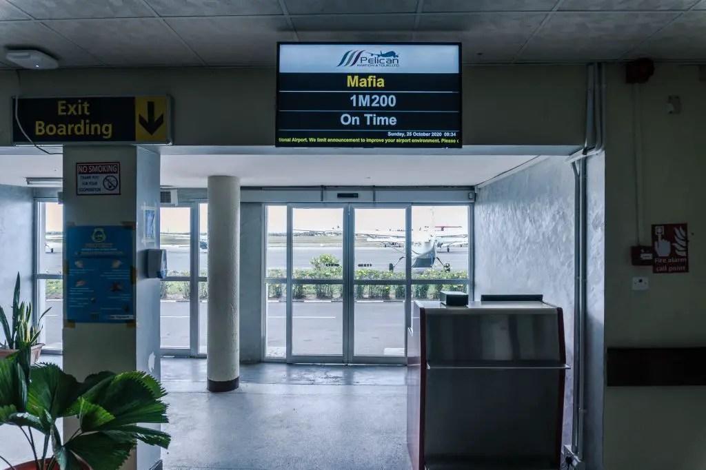 Dar to Mafia island flight
