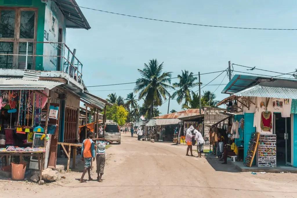 Nungwi Town Zanzibar
