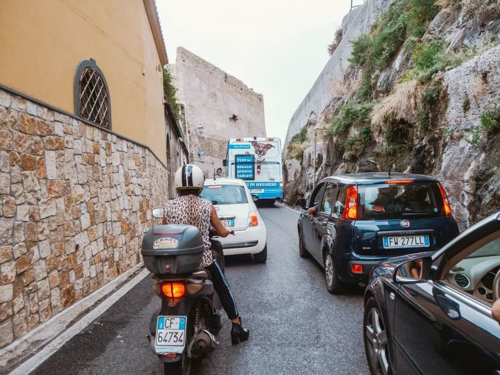 Traffic on the Amalfi Coast