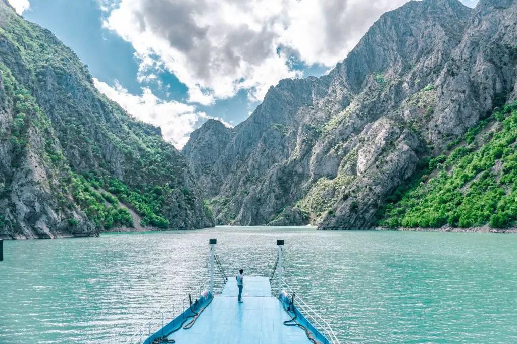 Lake Koman Ferry views