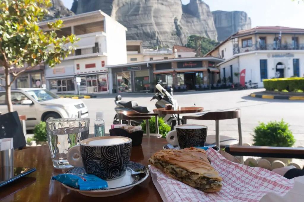 Cafe in Kalambaka town Meteora