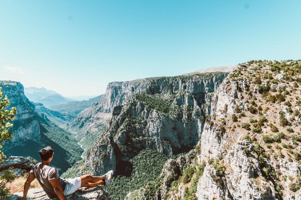 Vikos Gorge canyon from Beloi Viewpoint