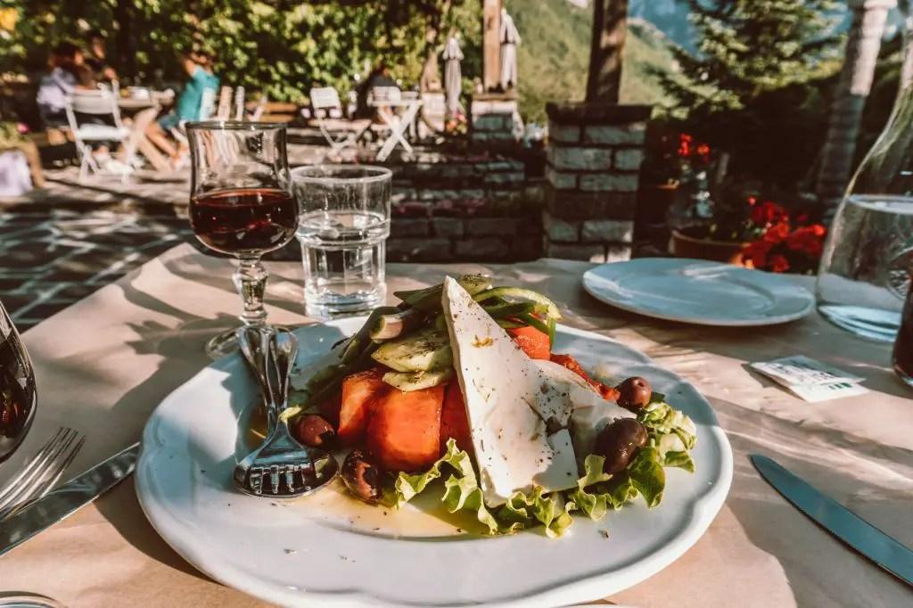 Wine at Astra Restaurant Greece Papigo