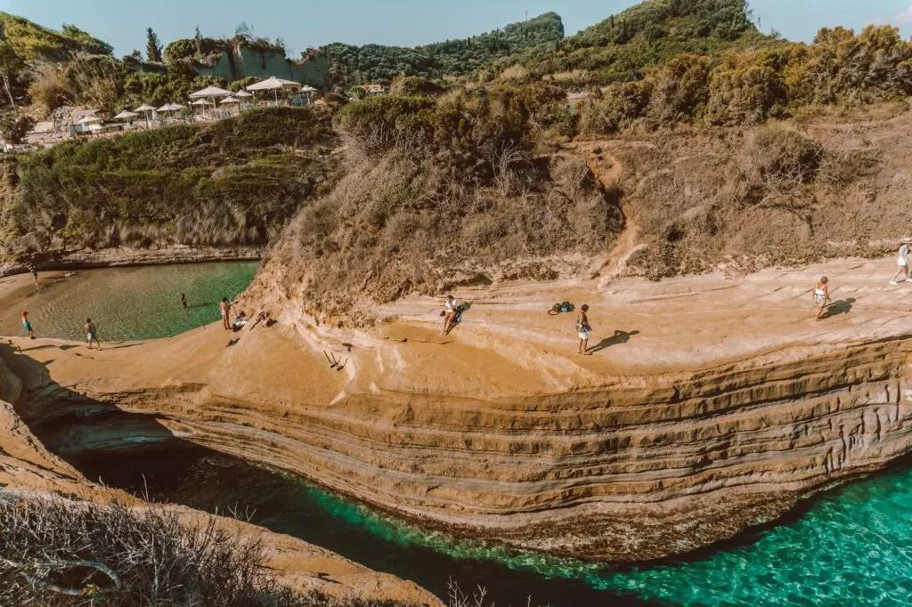 canal d'amour Corfu ionian islands greece