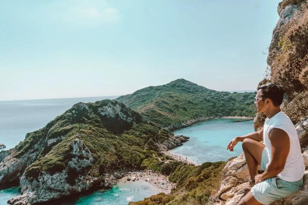 Porto Timoni Corfu ionian islands greece