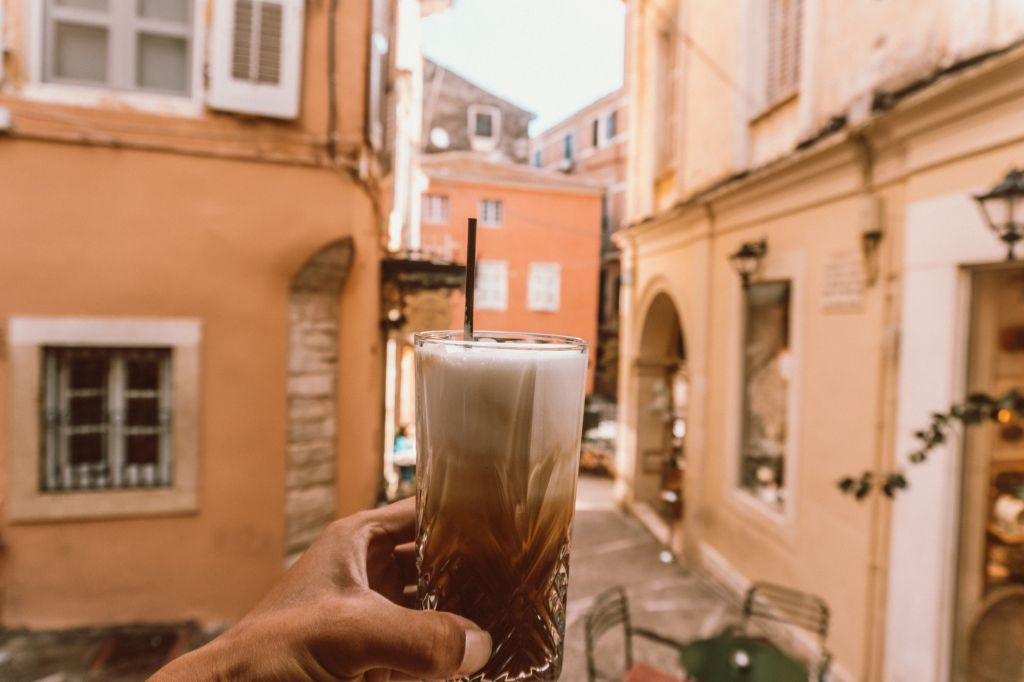 mikro cafe kerkira corfu Greece