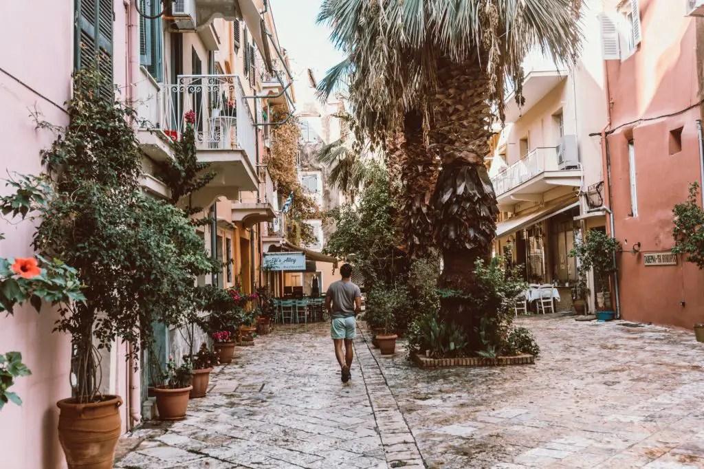 Beautiful corfu kerkira town