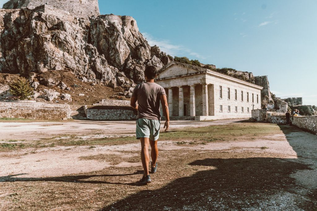 Corfu fortress Greece ionian