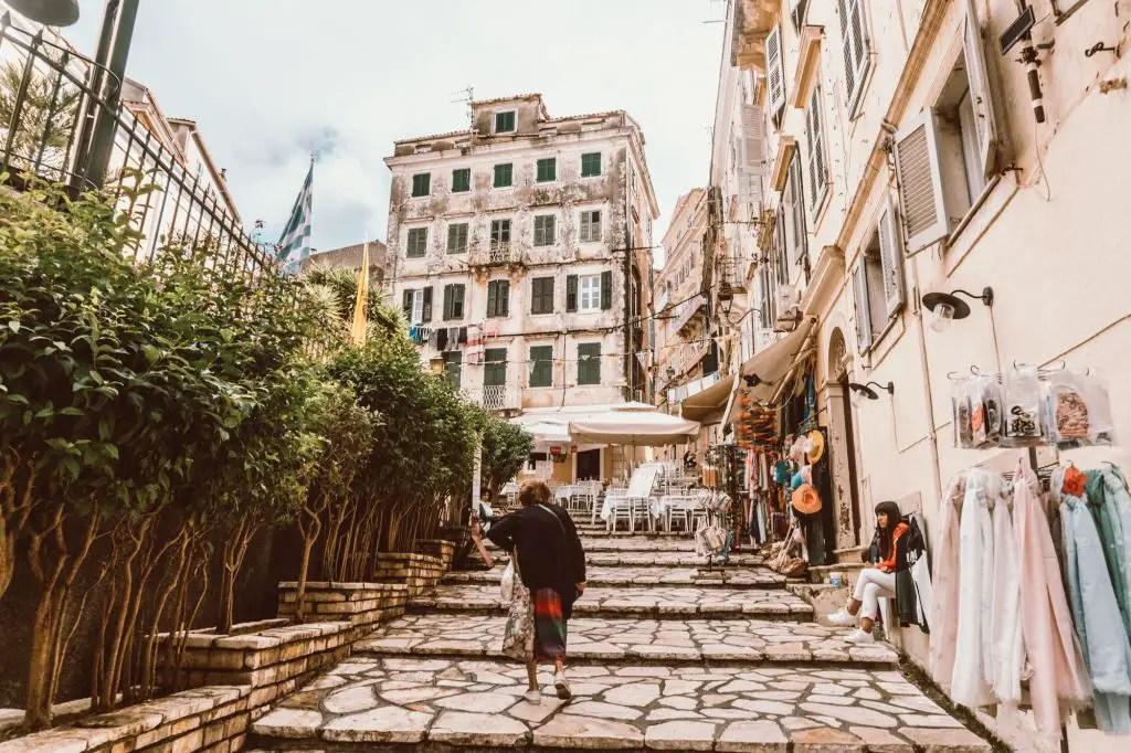 Corfu Town Kerkira Greece